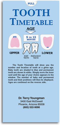 Tooth Timetable Slide Guide