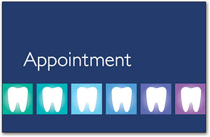 Blue Teeth Appointment Card