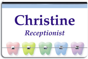 Colourful Teeth Braces Name Badge