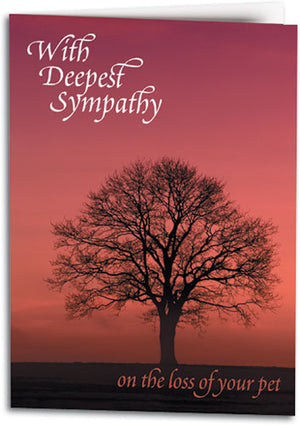 Sympathy Red Sky/Tree Folding Card