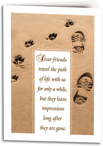 Dear Friends Path Folding Card