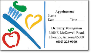 Heart and Apple Appointment Business Card