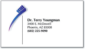 Contemporary Toothbrush Appointment Business Card