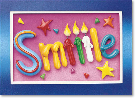 Smile With Candles Postcard
