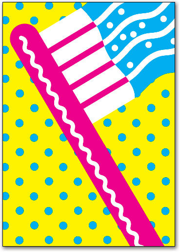 Bold and Bright Postcard