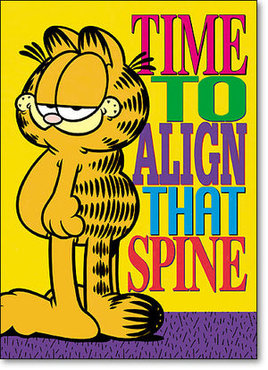 Time To Align That Spine Postcard