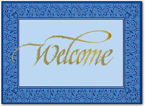 Welcome Filligree Postcard