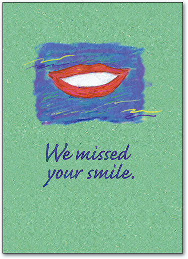 We Missed Your Smile Postcard
