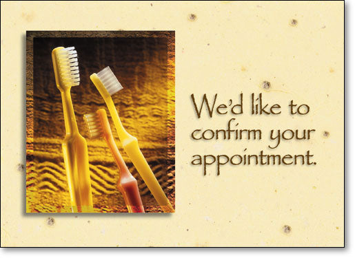 Golden Toothbrushes Postcard