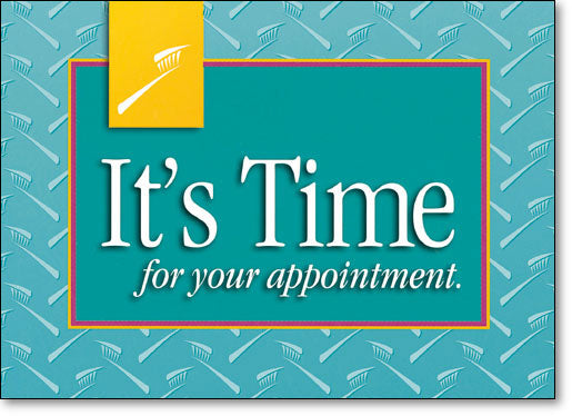 It's Time for Your Appointment Standard Postcard