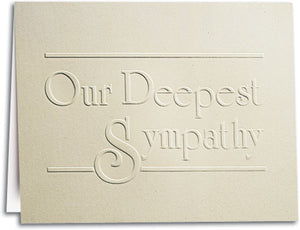 Deepest Sympathy Note-sized Deluxe Folding Card