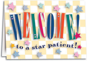 Star Patient Welcome Folding Card