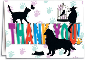 Thank You Silhouettes Folding Card