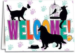 Welcome Silhouettes Folding Card