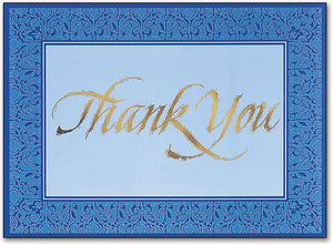 Filigree Thank You Postcard