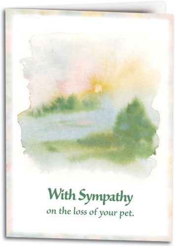 Watercolour Sympathy Folding Card