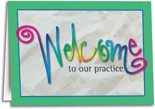 Welcome Script Folding Card