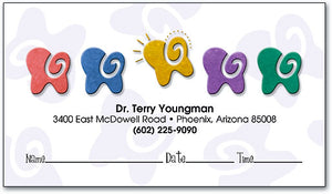 Swirly Teeth Appointment Business Card