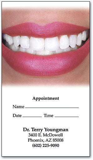 Perfect Teeth Appointment Business Card