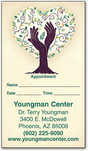 The Healing Tree Appointment Business Card