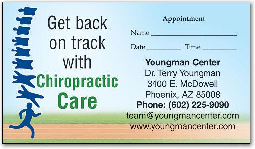 Back on Track customisable Appointment Business Card