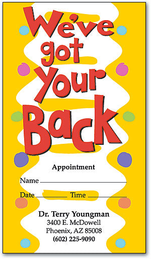 Got Your Back Appointment Business Card