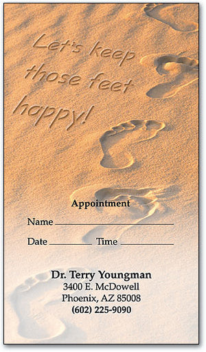 Sandy Footprints Appointment Business Card