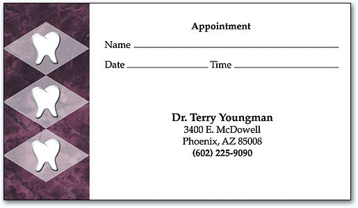 Teeth in Diamonds Appointment Business Card