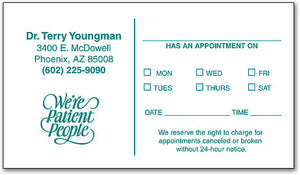 One-color Appointment Card