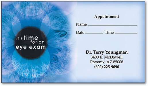 Blue Iris Appointment Business Card