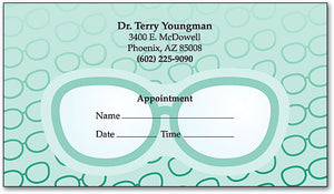 Glasses, Glasses And More Glasses Appointment Business Card