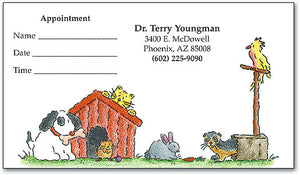 Story Book Pets Appointment Business Card