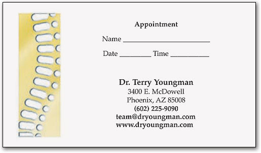 Gold Spine Professional Touch Appointment Business Card