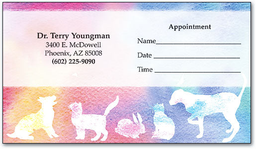 Pastel Silhouettes Appointment Business Cards
