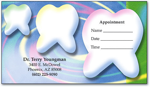 Tooth Vortex Appointment Business Card