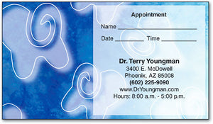 Floating Teeth Appointment Business Card