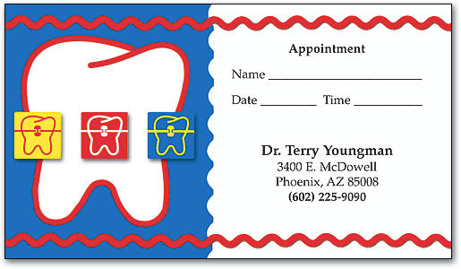 Ric Rac Braces Appointment Business Card