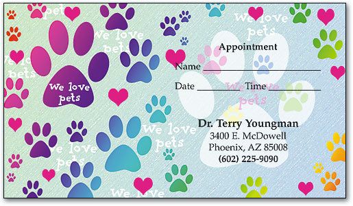Pretty Paws Appointment Business Card