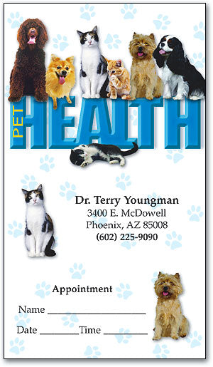 Pet Health Appointment Business Card