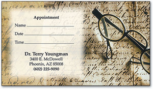 Manuscript Appointment Business Card