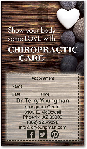 Show Your Body Some Love Appointment Business Card