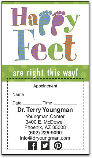 Right This Way Sticker Appointment Card