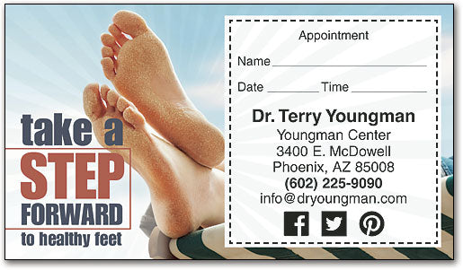 Take A Step Forward Sticker Appointment Card