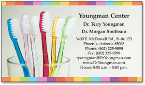 Brushes in Cup Appointment Business Card
