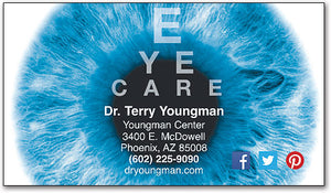 Blue Pupil Chart Business Card
