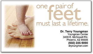Pair of Feet Business Appointment Card
