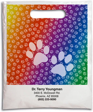 Rainbow Pawprints Supply Bag
