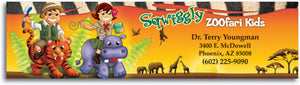 Sqwiggly® Zoofari Kids Bookmark