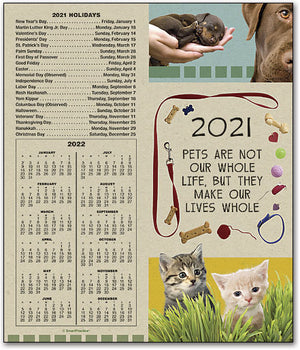 Make Our Lives Whole Tear-off Calendar Card with Envelope