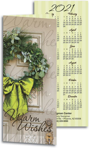 Warm Wishes Wreath Tear-off Calendar